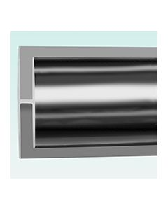 H-Section Joint Trim - 1 part Silver