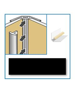 Aquabord Internal Corner - Black