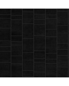 Aquabord PVC T&G 2 Wall Shower Kit - Black Tile Effect