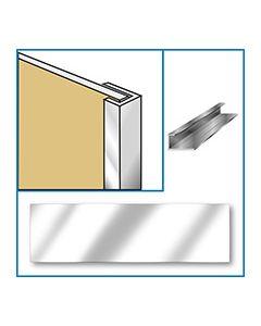 Aquaclad Edge Trim - Satin Chrome