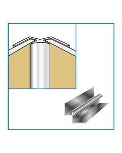 Aquaclad Internal Corner - Satin Chrome