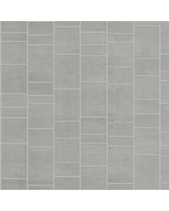 Aquabord PVC T&G 2 Wall Shower Kit - Light Grey Tile Effect