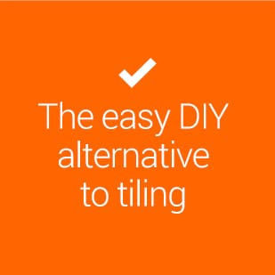 the easy DIY alternative to tiling